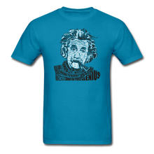 Load image into Gallery viewer, Albert Einstein Calligram - turquoise