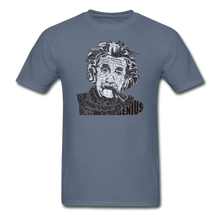 Load image into Gallery viewer, Albert Einstein Calligram - denim
