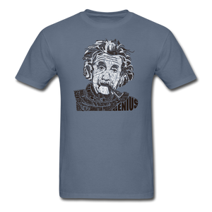 Albert Einstein Calligram - denim