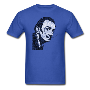Salvador Dali Calligram - royal blue