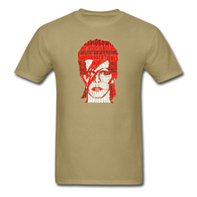 Load image into Gallery viewer, David Bowie Calligram - khaki