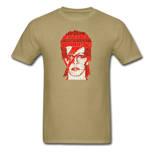 David Bowie Calligram - khaki