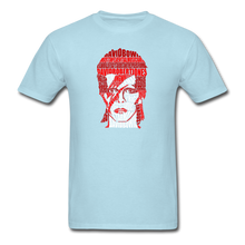 Load image into Gallery viewer, David Bowie Calligram - powder blue