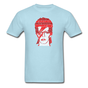 David Bowie Calligram - powder blue