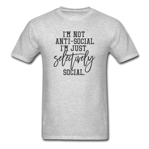 I'm Not Antisocial - heather gray