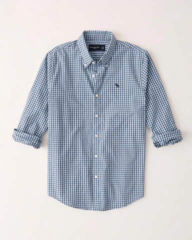 Icon Poplin Button-Up Shirt