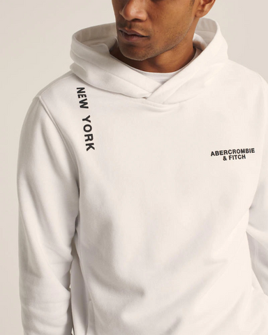 The A&F Logo Perfect Popover Hoodie