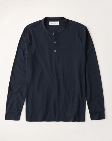 Long-Sleeve Henley Tee