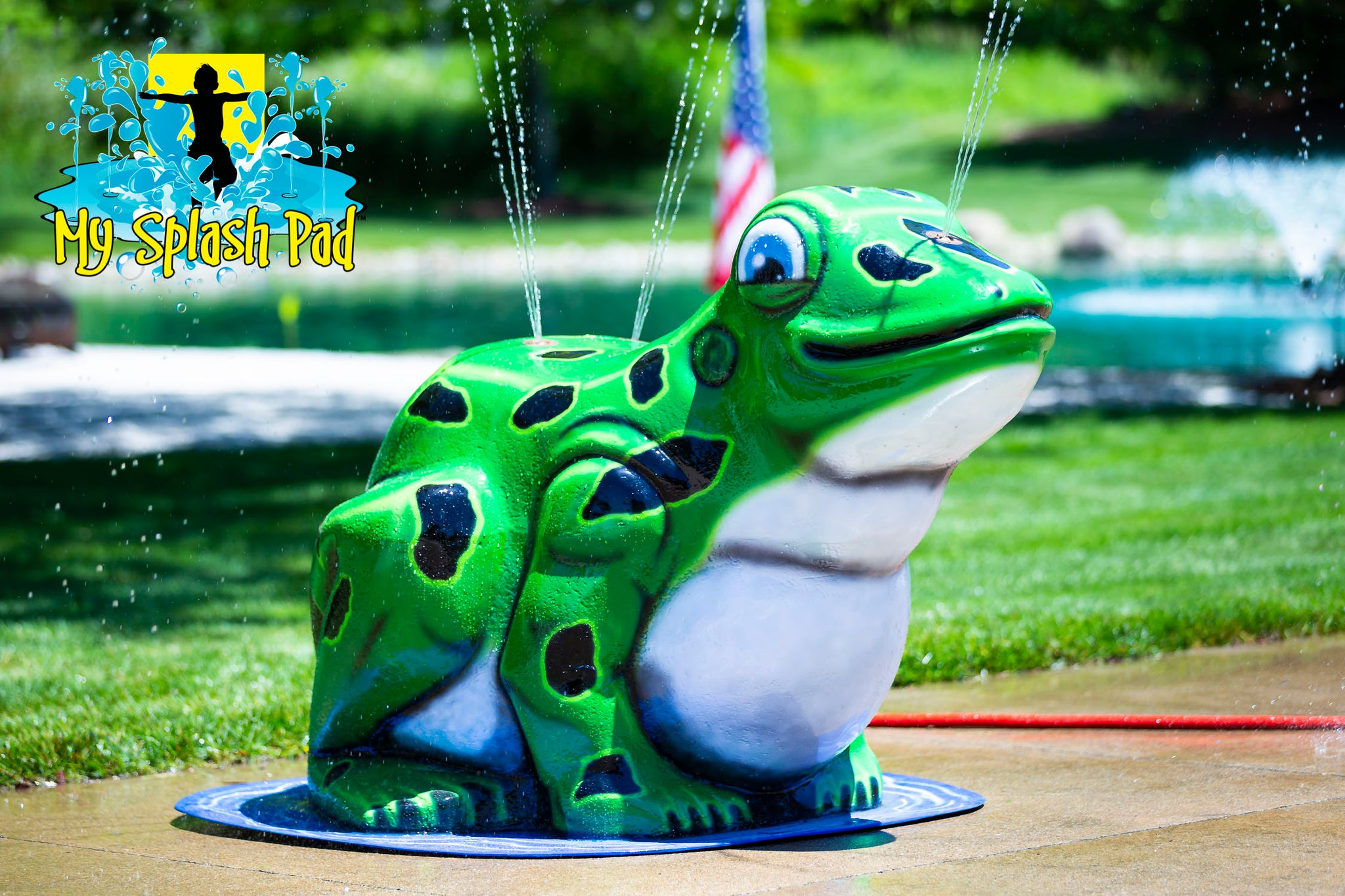 Mobile Spray and Play Features are part of our innovative line of portable outdoor water play equipment