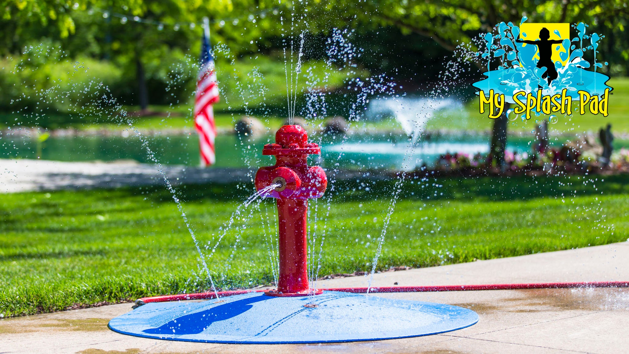 My Splash Pad's Portable Splash Pad Water Play Features