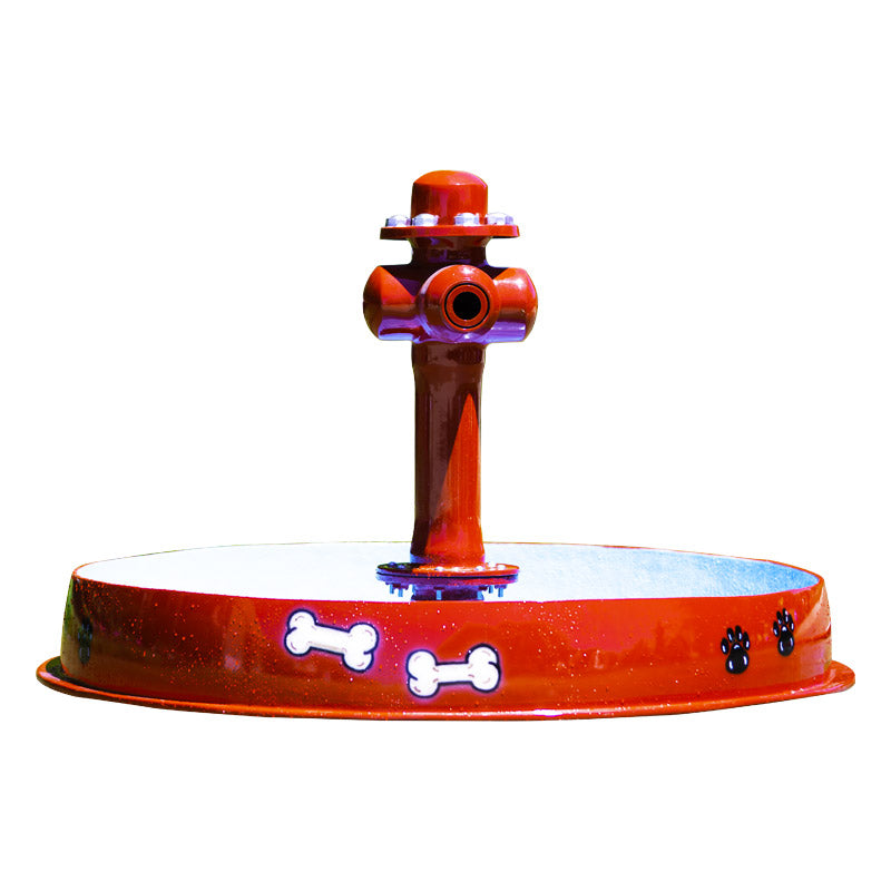 Dog Bowl With Hydrant Water Play Features