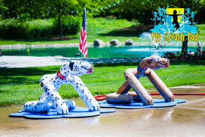 Sitting Dog Water Play Features