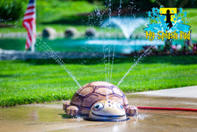 Load image into Gallery viewer, Small Turtle Mobile Water Play Features
