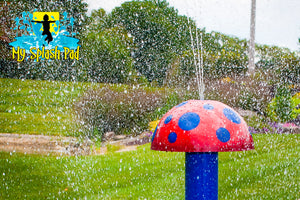 Mini Mushroom Portable Splash Pad Water Play Features