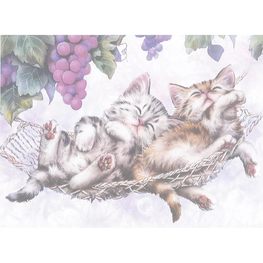 Kitten Swing V. Greeting Card