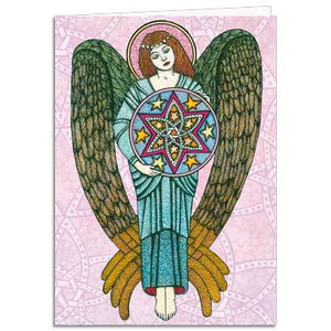Angel Of The Christmas Star Greeting Card