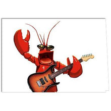 Load image into Gallery viewer, Rock Lobster Birthday Greeting Card 6 pack