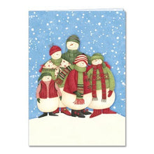 Load image into Gallery viewer, Snowkin Eco Boxed Notes Holiday Greeting Card 4 pack
