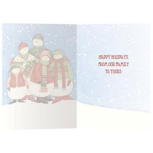 Snowkin Eco Boxed Notes Holiday Greeting Card 4 pack