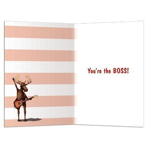 Moose Springsteen Greeting Card