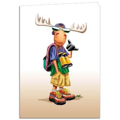 Hang Moose Greeting Card