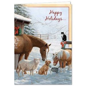 Home For The Holidays Christmas Greeting Card 4 pack
