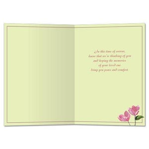 Peace And Comfort Sympathy Greeting Card 6 pack
