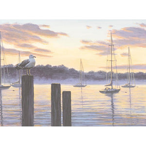 Harbor Watcher Greeting Card