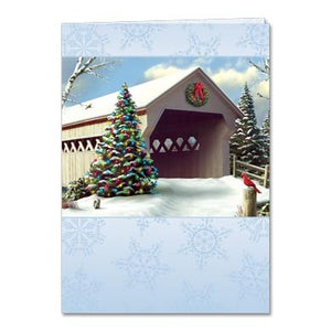 Winter Skies Holiday Greeting Card 4 pack