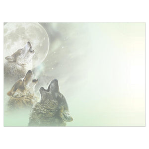 Three Wolf Moon All Occasion Greeting Card 6 pack