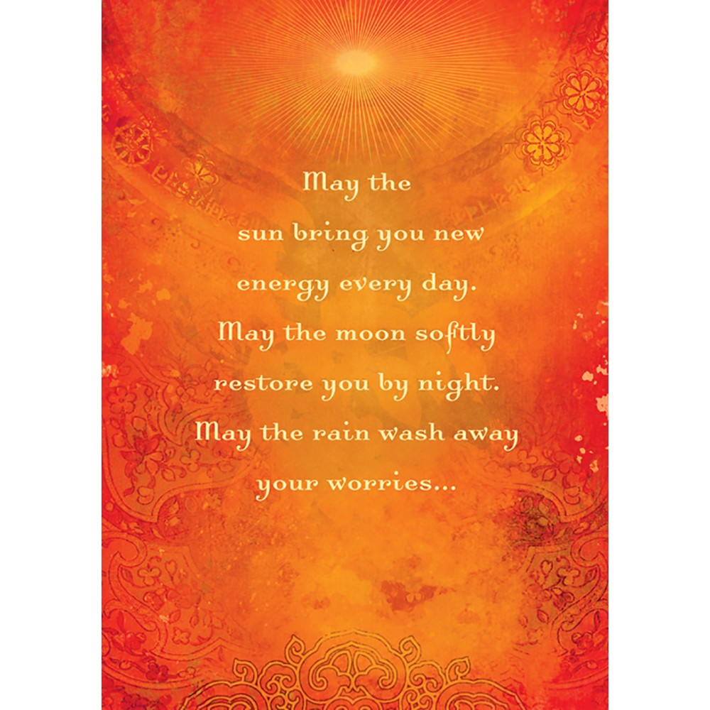 May The Sun Encouragement Greeting Card 6 pack