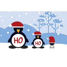 Load image into Gallery viewer, Ho Ho Ho Penguins Christmas Greeting Card 4 pack