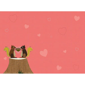 I'm Nuts Squirrels Valentine's Day Greeting Card 4 pack