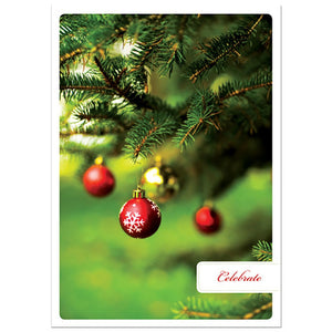 Celebrate Holiday Greeting Card 4 pack