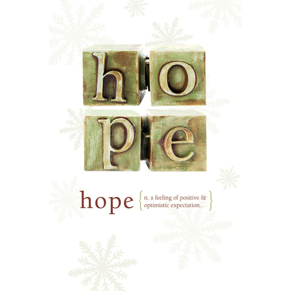 Hope Holiday Greeting Card 4 pack