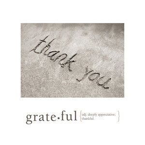 Grateful Thank You Greeting Card 6 pack