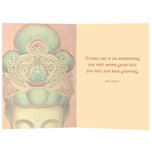 Kuan Yins Crown Birthday Greeting Card 6 pack