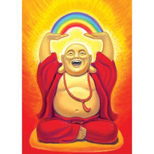 Load image into Gallery viewer, Laughing Buddha Birthday Greeting Card 6 pack