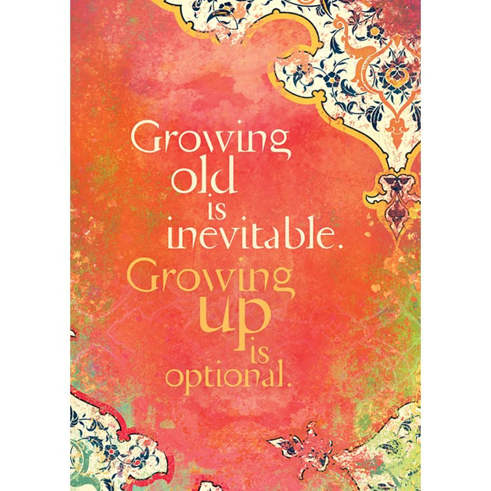 Growing Up Is Inevitable Birthday Greeting Card 6 pack