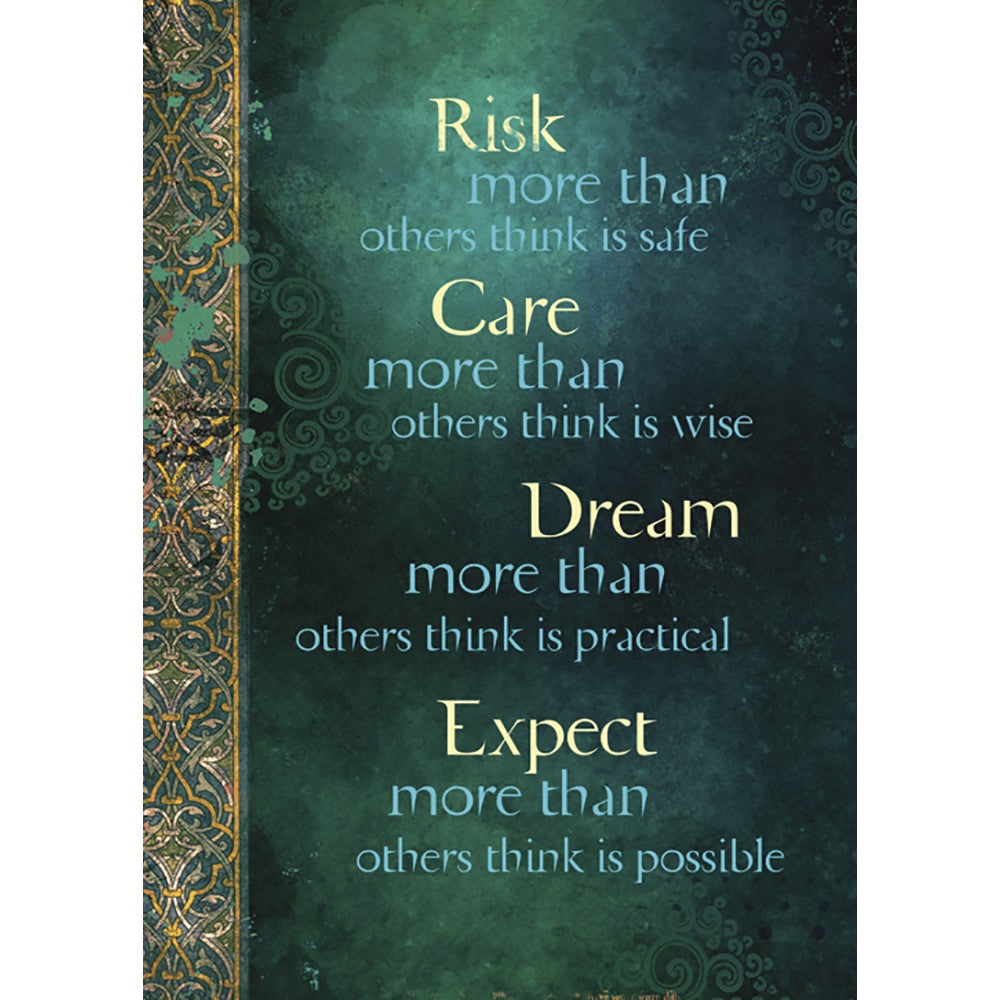 Risk More Than Others Encouragement Greeting Card 6 pack