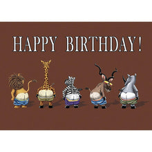 Load image into Gallery viewer, Full Moon Zoo Birthday Greeting Card 6 pack