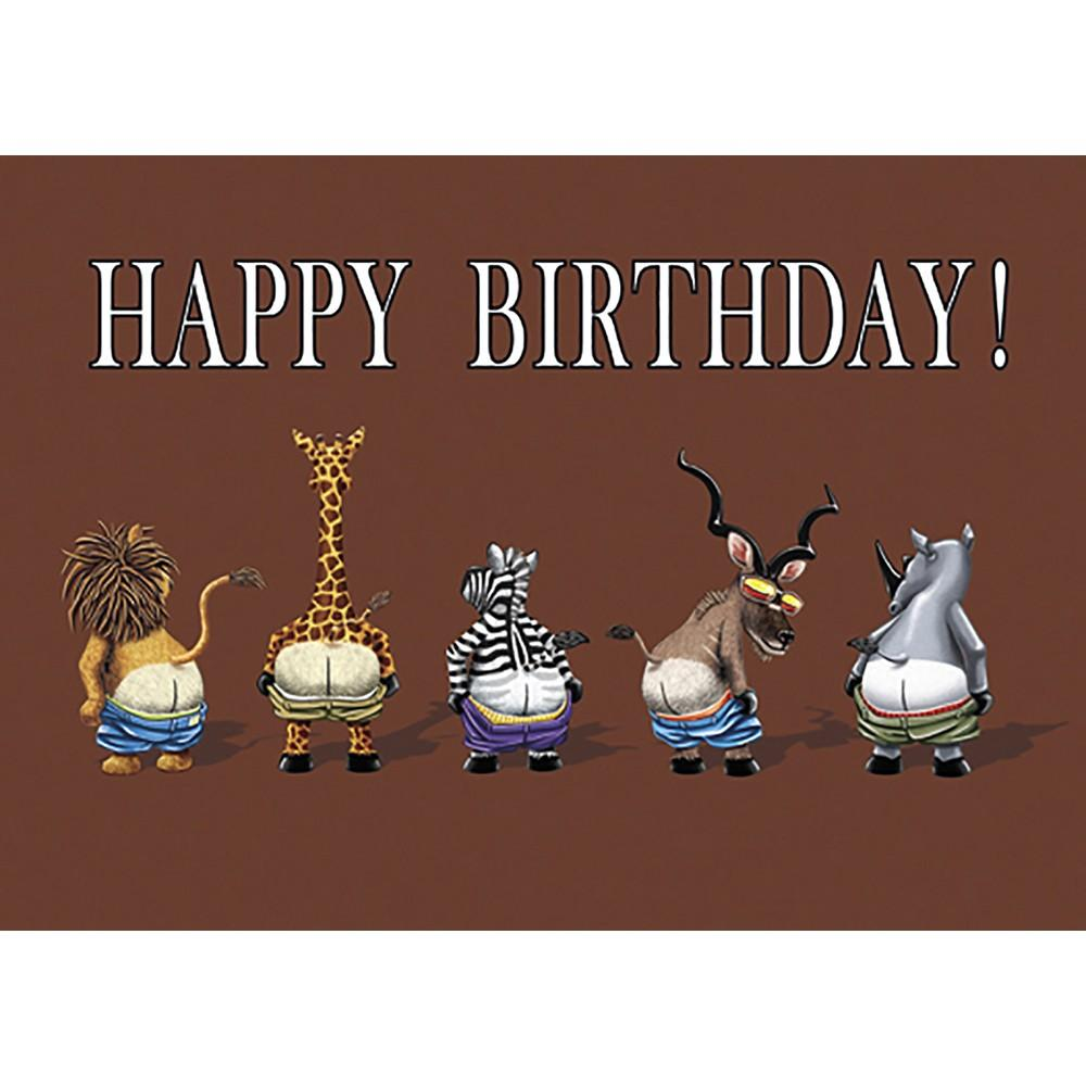 Full Moon Zoo Birthday Greeting Card 6 pack