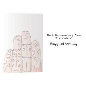 Lend A Hand Father's Day Greeting Card 4 pack