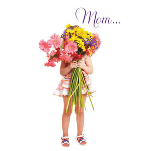 Mother's Day Flowers Mother's Day Greeting Card 4 pack