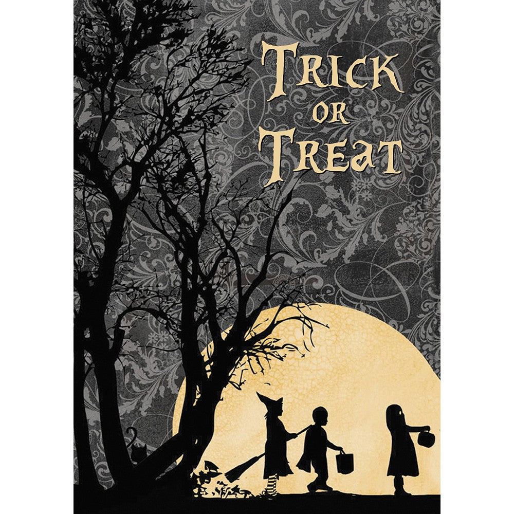Trick Or Treat Halloween Greeting Card 4 pack