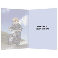 Load image into Gallery viewer, Born To Be Wild Birthday Greeting Card 6 pack