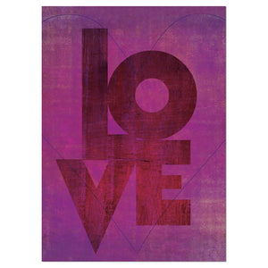 Love Boldly Valentine's Day Greeting Card 4 pack