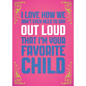 Favorite Child Mother's Day Mother's Day Greeting Card 4 pack