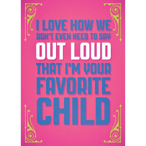 Send This Favorite Child Mother's Day Mother's Day Greeting Card