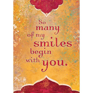 Smiles Begin With You Birthday Greeting Card 6 pack
